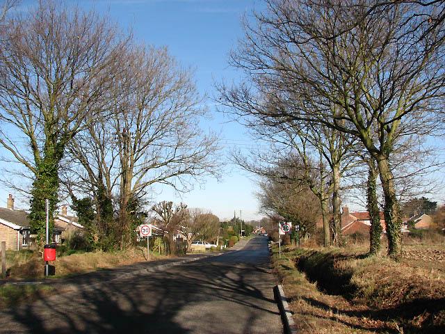 Approaching Little Plumstead