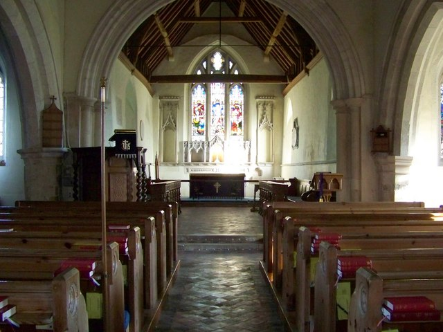 Church interior, St Andrew's Church, Meonstoke