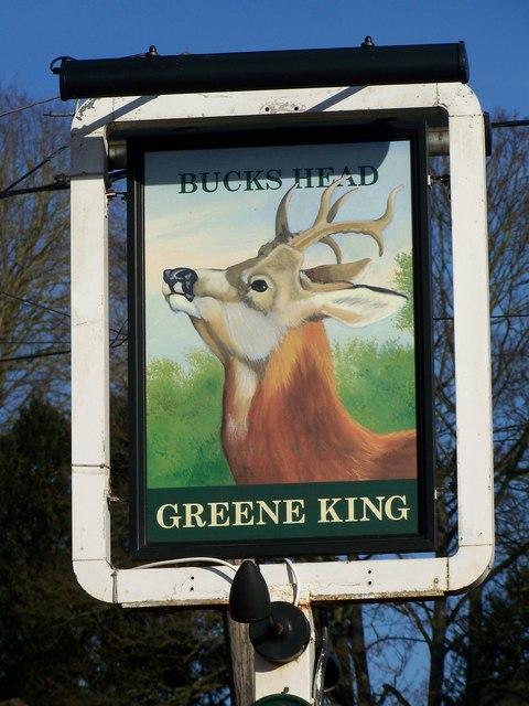 Sign for the Bucks Head, Meonstoke