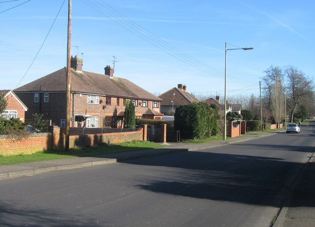 East view down the Old Worting Road