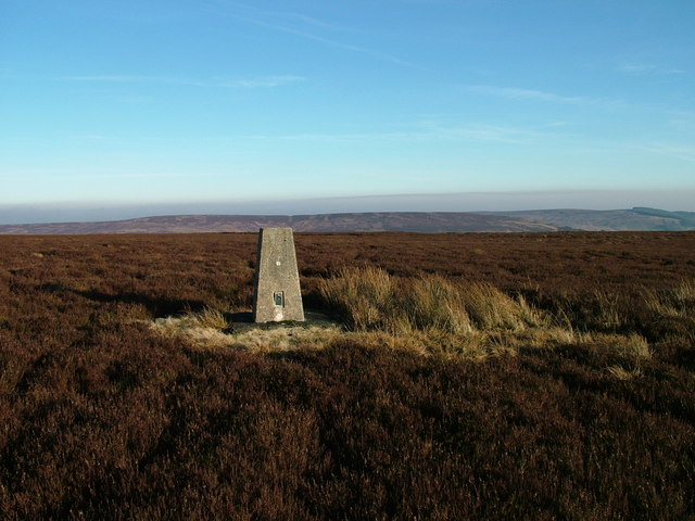 O.S.Trig Point  above Raven Hills