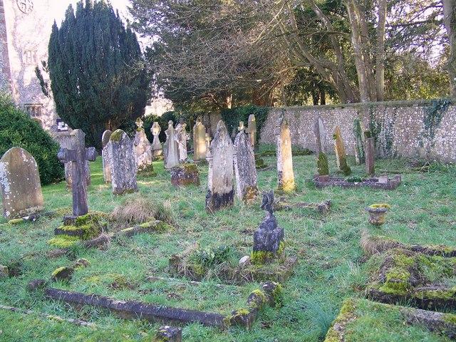 Gravestones at St Mary's Church, Droxford