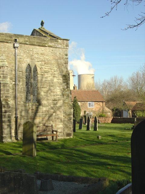 Churchyard corner.