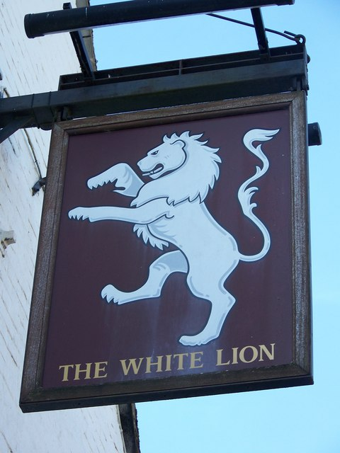 Sign for the White Lion, Soberton