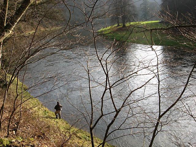 Salmon fishing on the River Tweed