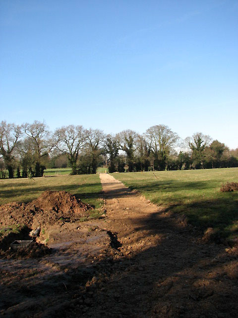 Newly constructed path