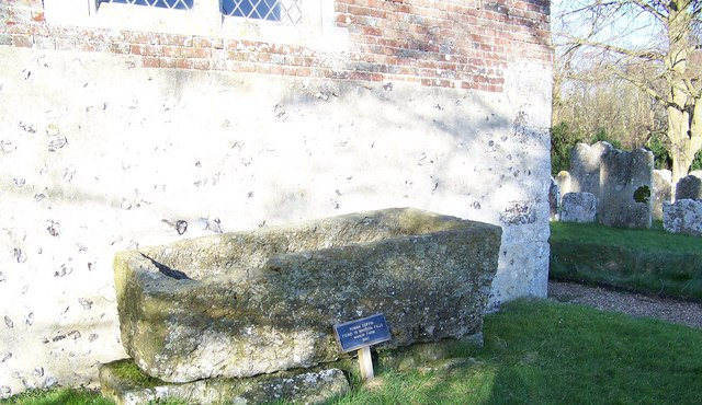 Roman Coffin at St Peter's Church, Soberton