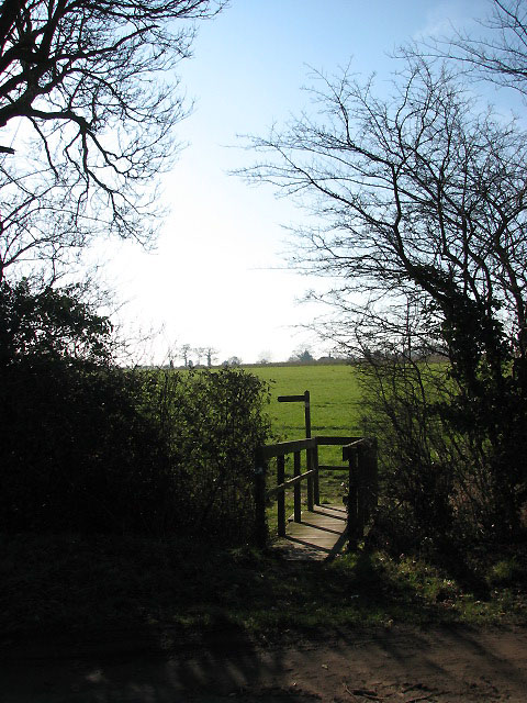 Footbridge and path