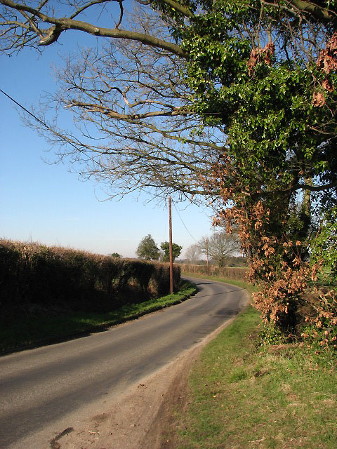 Looking north along Hare Road