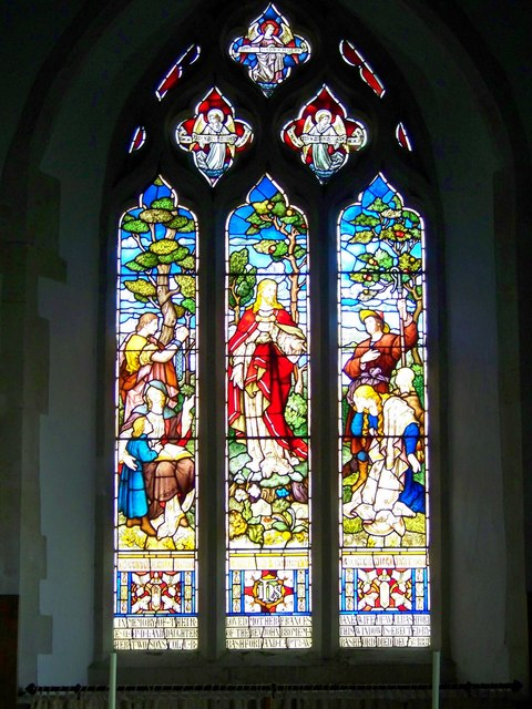 Stained glass window, St Peter's Church, Soberton