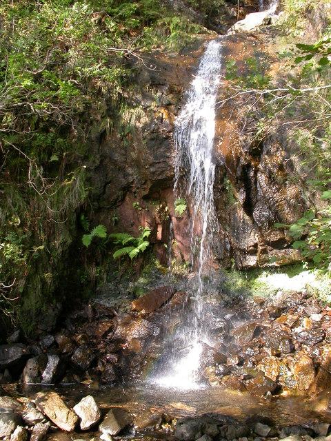 Waterfall on Inninmore path, near Rubha an t-Sasunnach