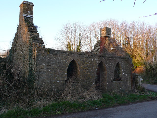 Ruined Lodge, West Hall, Folke, Longburton, Dorset