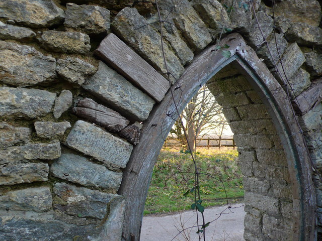 Doorway of ruined lodge, Folke Dorset