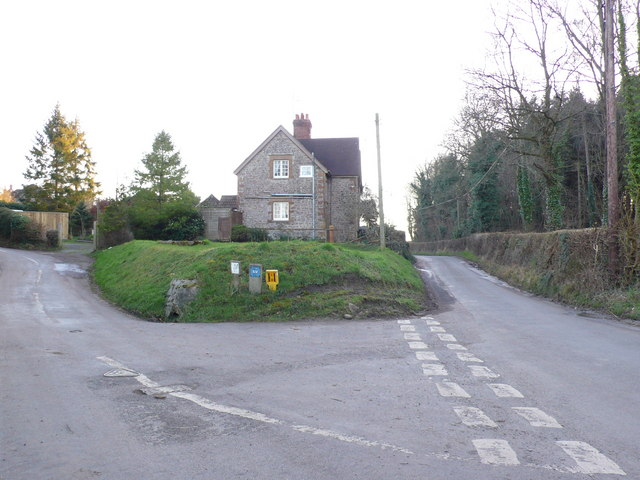 Junction of Goathill Lane and Haydon Hollow