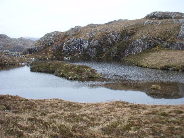 Lochan below Meall an Triubhais Dhuibh