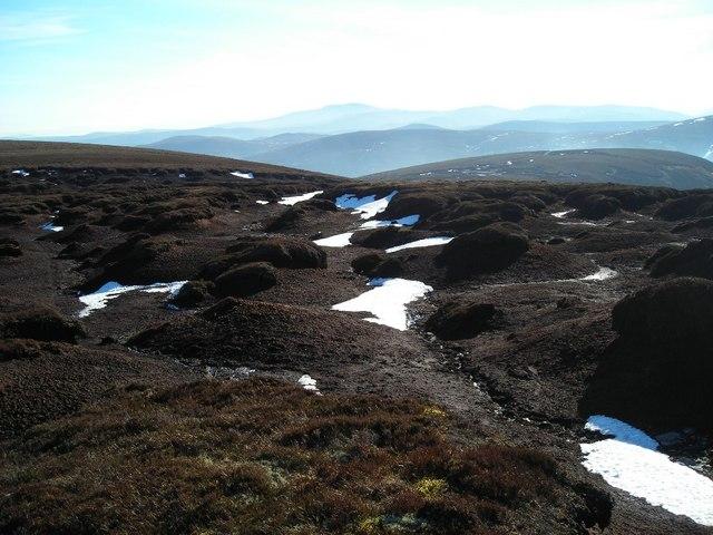 Peat haggs near Dun Muir on the Ladder Hills