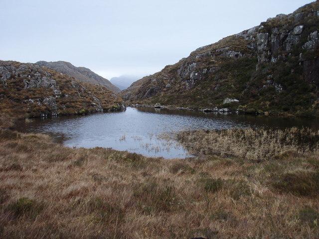 Feeder lochan for Loch Dubh nam Biast