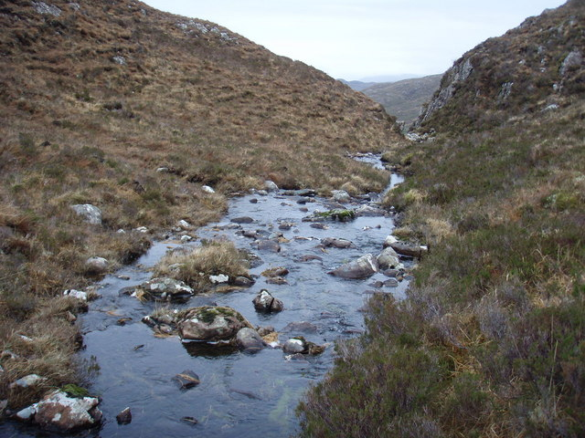 Outflow from Lochan Dubh nam Biast