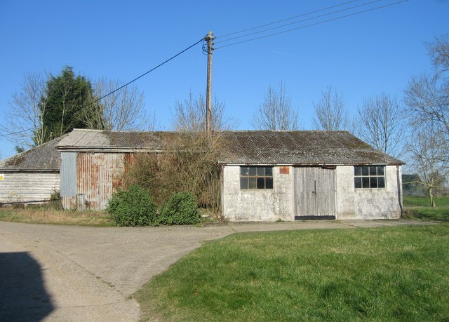 Typical farm buildings - Worting Wood