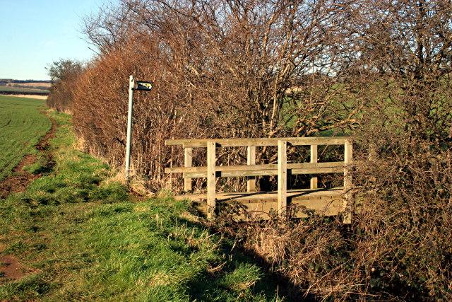 Footbridge on the Viking Way