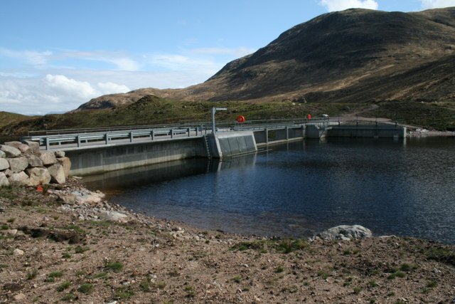 """New"" Dam at Loch Uisge"