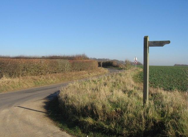 Footpath & farmland