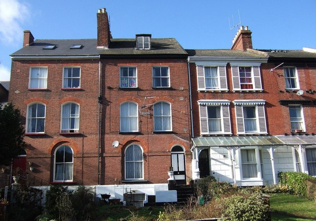 Houses on Old Tiverton Road, Exeter