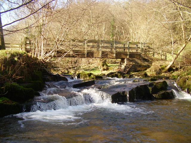 Afon Crawnon, footbridge