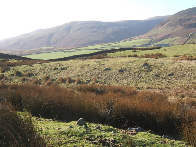 Hill farmland near Swinside