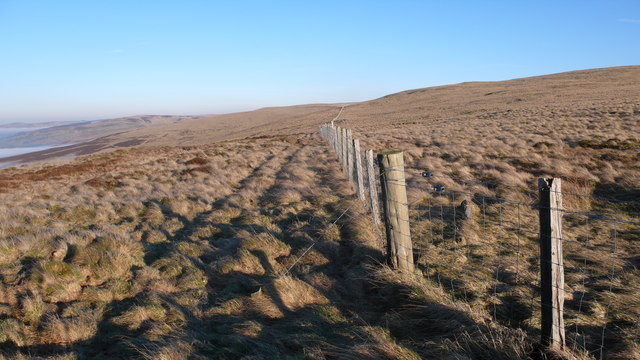 Fence on Craigentaggert Hill