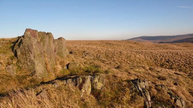 Rock outcrop on Craigentaggert