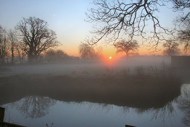 Sunrise at Little Saxham