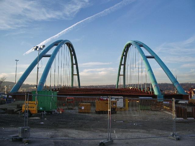 The new Freckleton Street bridge, Blackburn