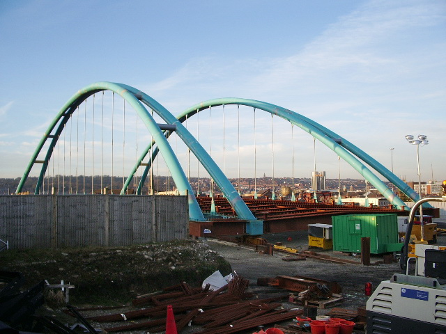 The new Freckleton Street bridge, Blackburn
