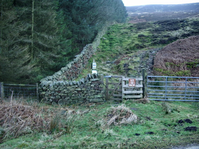 Access point to Whin Fell