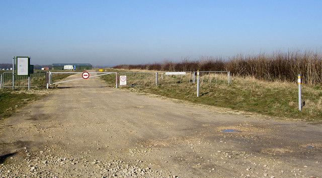 Entrance to Darlton Gliding Club