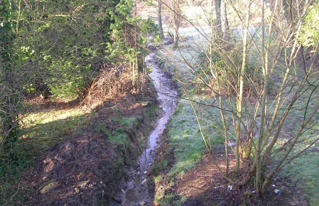 Stream in grounds of Rawdon Crematorium