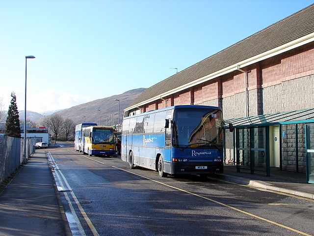 Departures from Fort William bus station