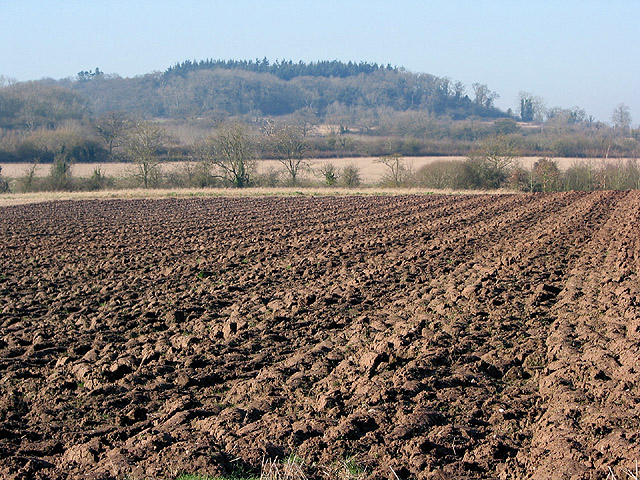 Ploughed field under Limbury Hill