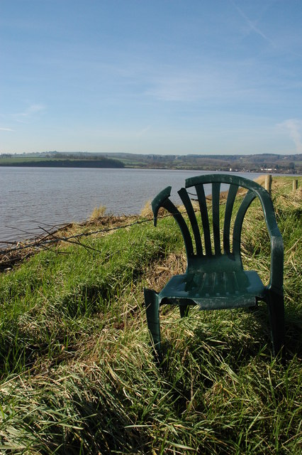 Flotsam on the bank of the River Severn