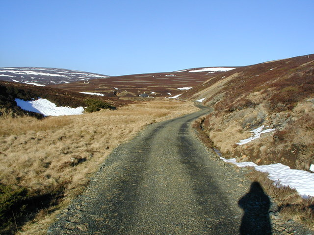 Track leading to the dam and lochan