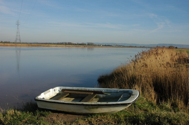 Boat on the banks of the River Severn