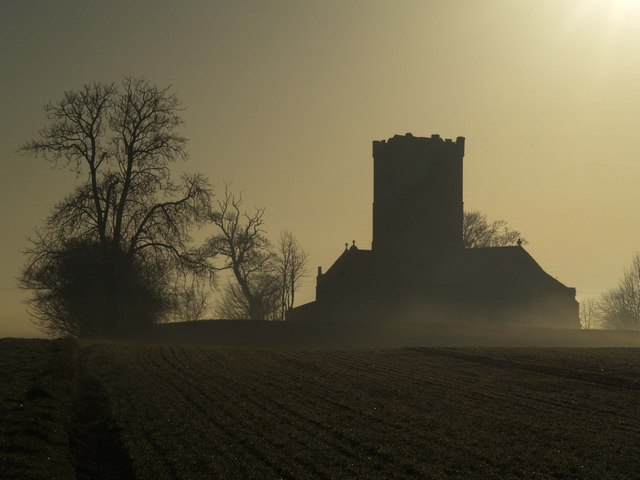 Paull Church Silhouette