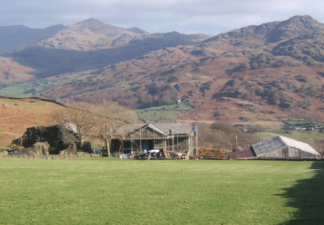 Old Hall Farm overlooking the Duddon valley