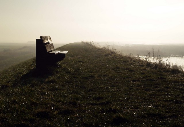 Solitary Seat on Paull's Tidal Lagoon's Embankment