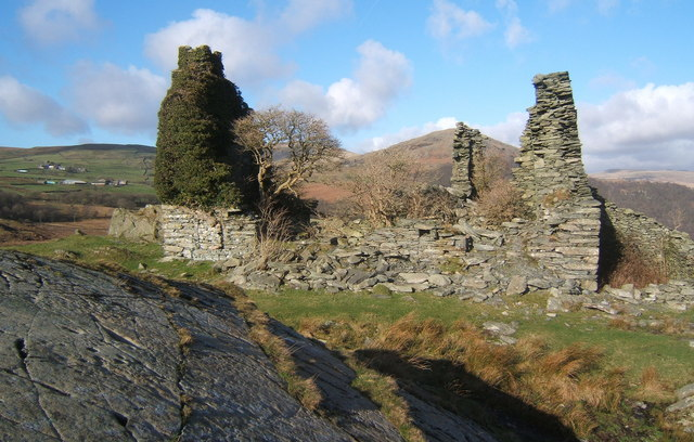 Ruins of Frith Hall, former hunting lodge above Ulpha