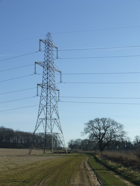 Footpath by pylon