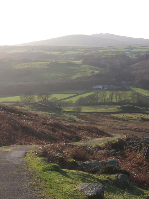 Looking over the Duddon from Birks, into the winter afternoon light