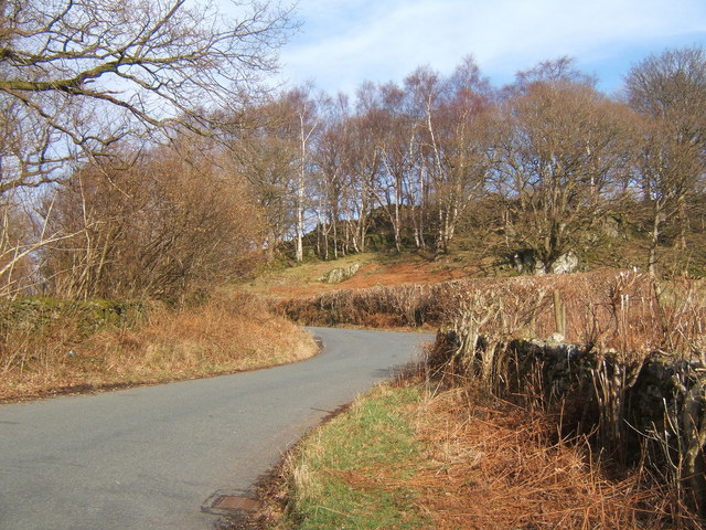 Looking up the steep Duddon valley lane
