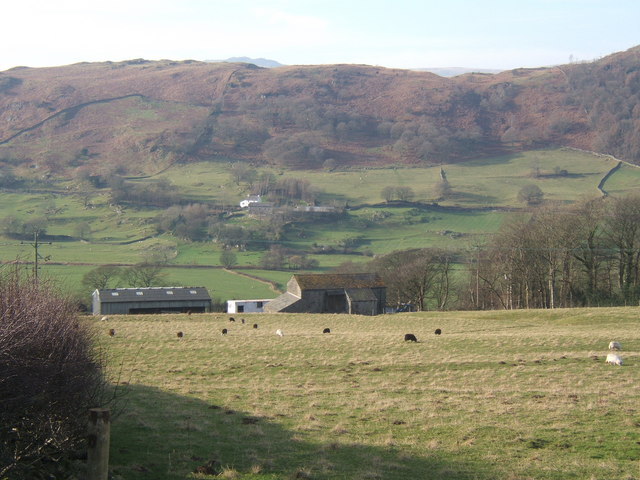 View across the Lickle valley from the A593
